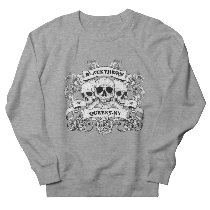 3 skulls Men's French Terry Sweatshirt by blackthorn51 Apparel