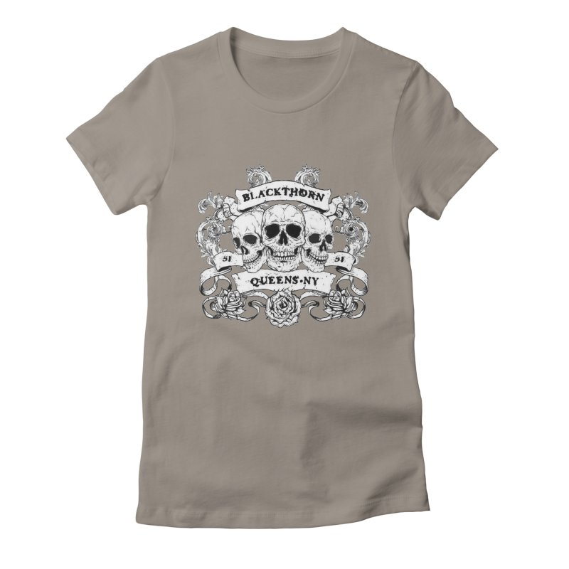 3 skulls Women's Fitted T-Shirt by blackthorn51 Apparel
