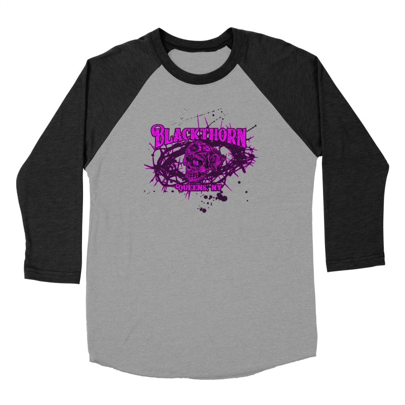 Blackthorn 51 Purple splatter Men's Baseball Triblend Longsleeve T-Shirt by blackthorn51 Apparel