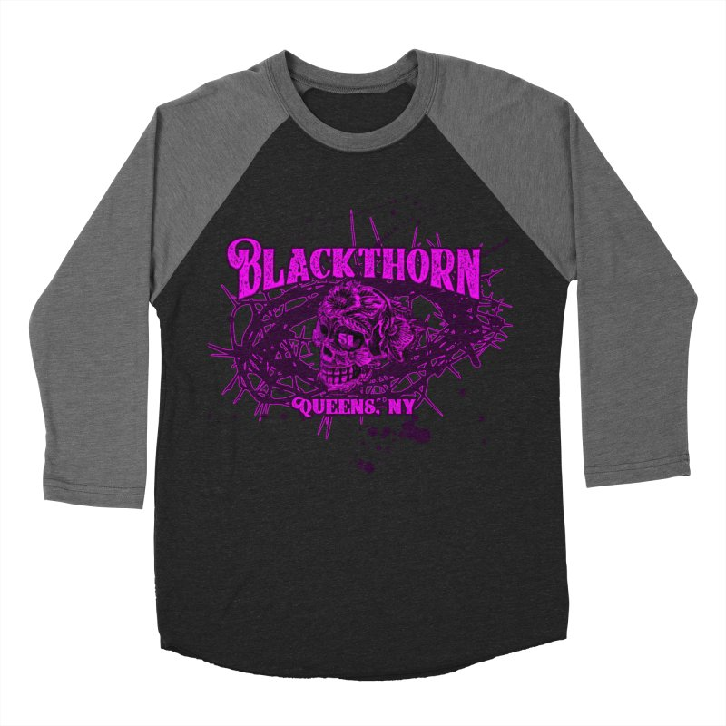 Blackthorn 51 Purple splatter Men's Baseball Triblend Longsleeve T-Shirt by blackthorn51 Apparel