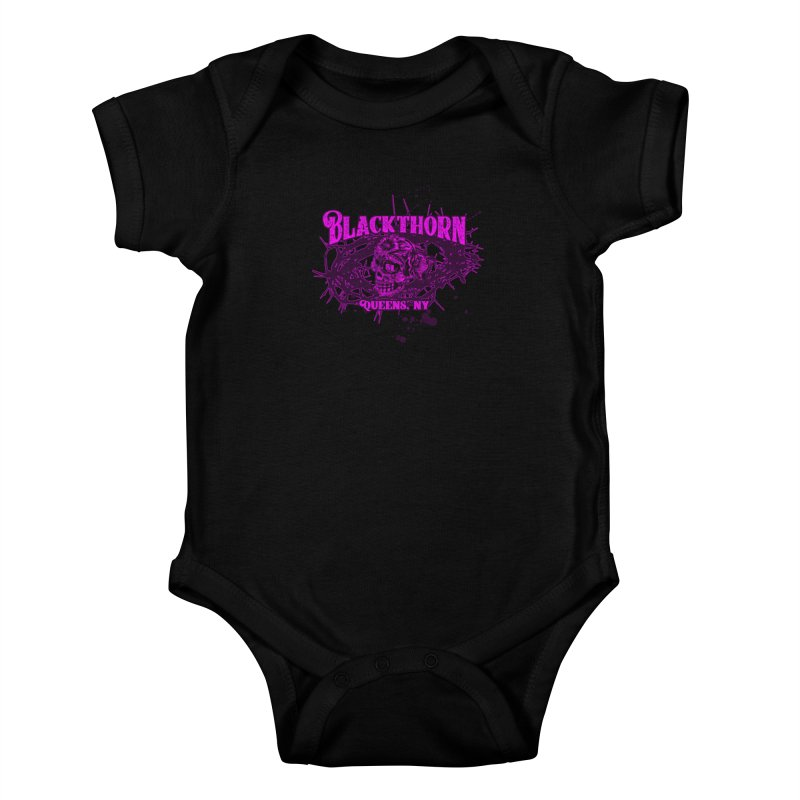 Blackthorn 51 Purple splatter Kids Baby Bodysuit by blackthorn51 Apparel