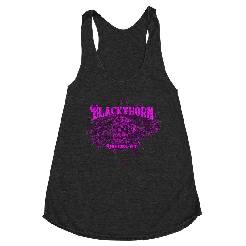 Blackthorn 51 Purple splatter Women's Racerback Triblend Tank by blackthorn51 Apparel