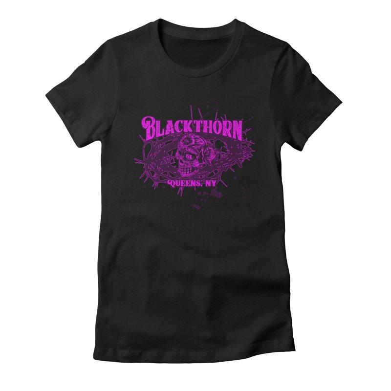 Blackthorn 51 Purple splatter Women's T-Shirt by blackthorn51 Apparel