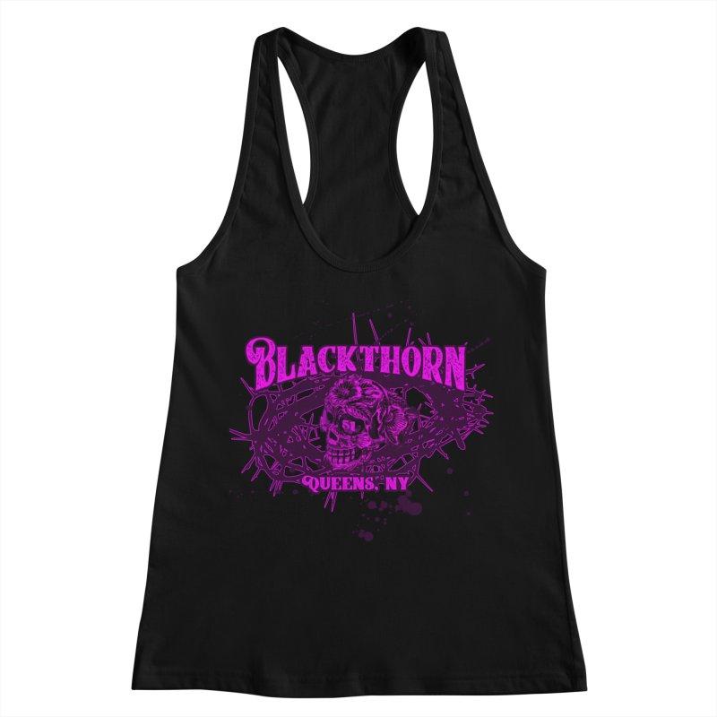 Blackthorn 51 Purple splatter Women's Racerback Tank by blackthorn51 Apparel