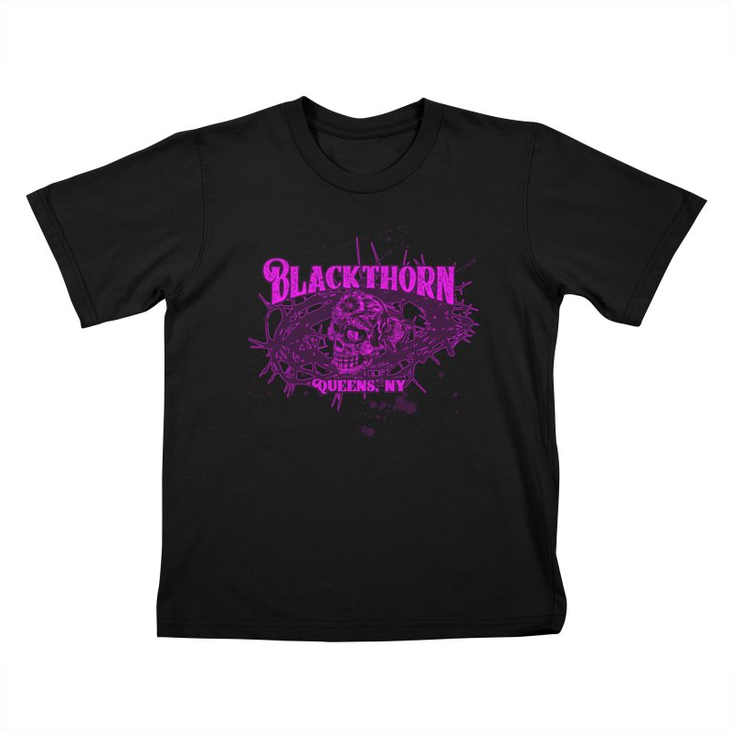 Blackthorn 51 Purple splatter Kids T-Shirt by blackthorn51 Apparel