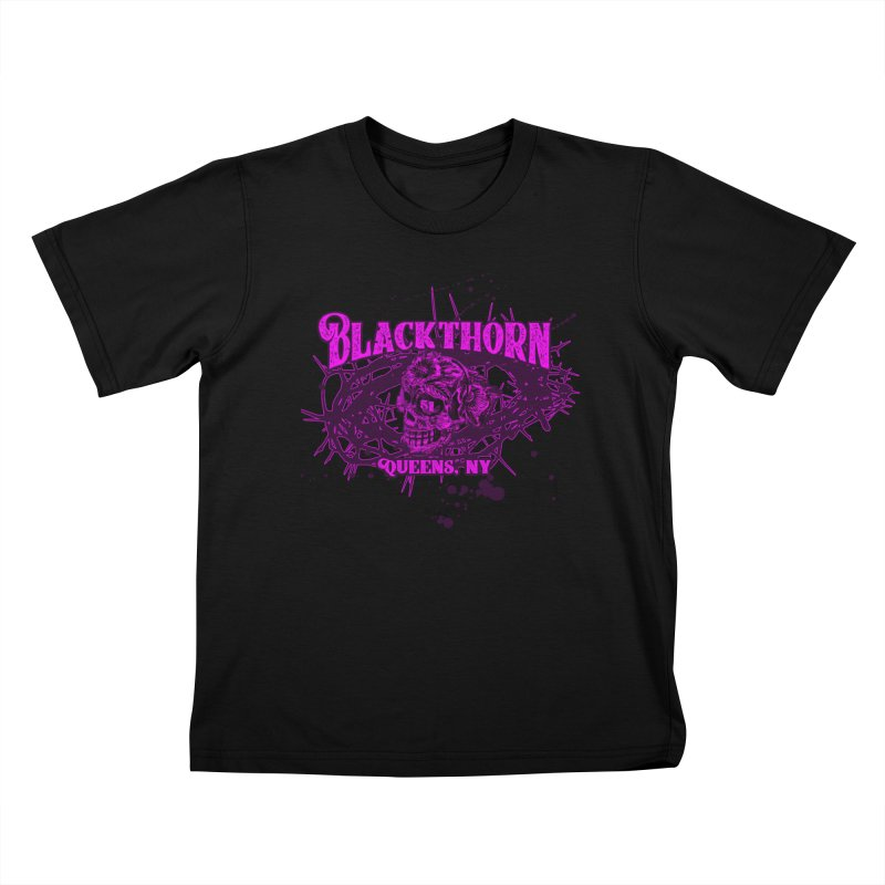 Blackthorn 51 Purple splatter Kids T-Shirt by blackthorn51 Apparel