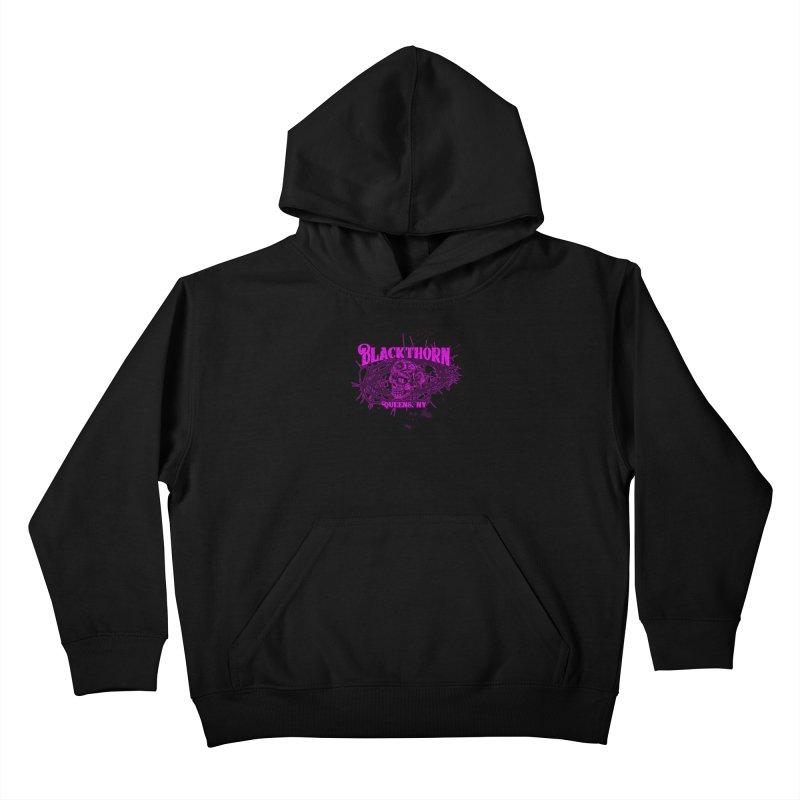 Blackthorn 51 Purple splatter Kids Pullover Hoody by blackthorn51 Apparel