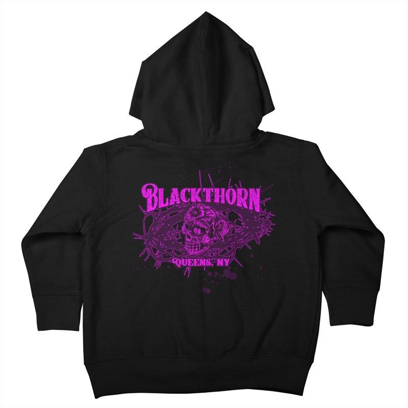 Blackthorn 51 Purple splatter Kids Toddler Zip-Up Hoody by blackthorn51 Apparel