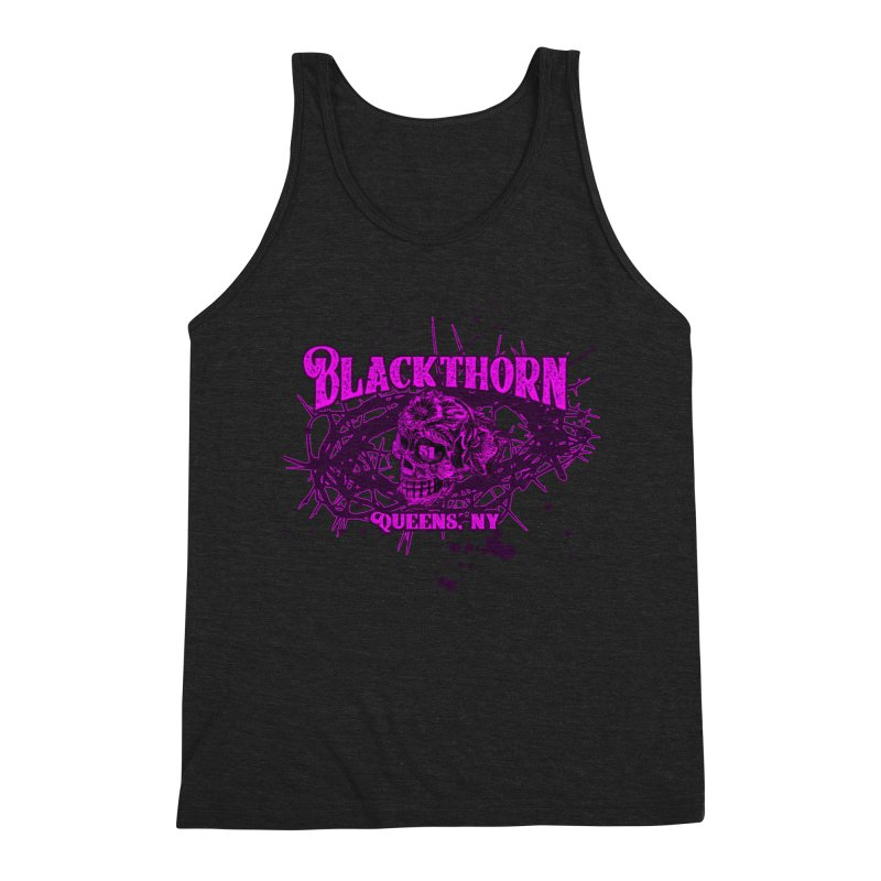 Blackthorn 51 Purple splatter Men's Triblend Tank by blackthorn51 Apparel