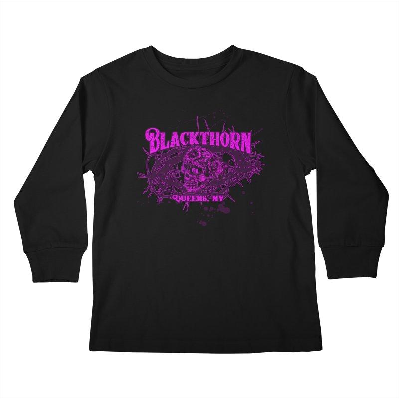 Blackthorn 51 Purple splatter Kids Longsleeve T-Shirt by blackthorn51 Apparel