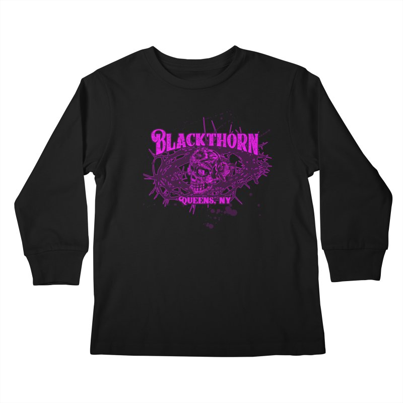 Blackthorn 51 Purple splatter Kids Longsleeve T-Shirt by blackthorn51 Apparel