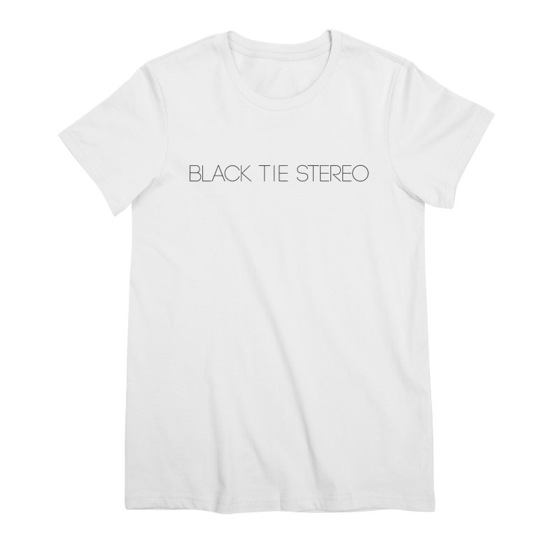 Basic Black Logo Women's Premium T-Shirt by blacktiestereo's Artist Shop