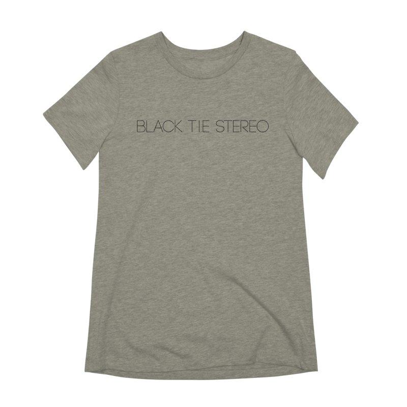 Basic Black Logo Women's Extra Soft T-Shirt by blacktiestereo's Artist Shop