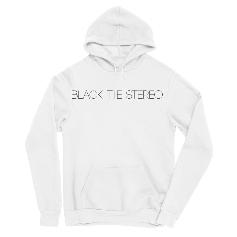 Basic Black Logo Men's Sponge Fleece Pullover Hoody by blacktiestereo's Artist Shop
