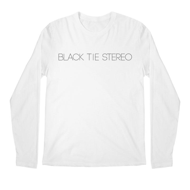 Basic Black Logo Men's Regular Longsleeve T-Shirt by blacktiestereo's Artist Shop