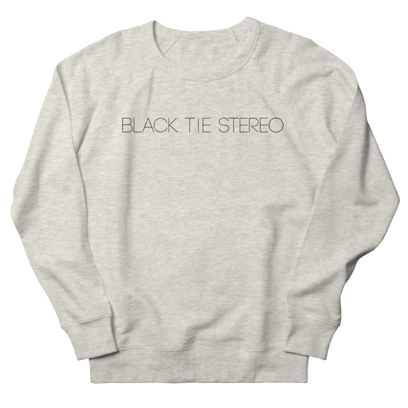 Basic Black Logo Women's French Terry Sweatshirt by blacktiestereo's Artist Shop