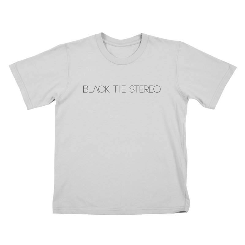 Basic Black Logo Kids T-Shirt by blacktiestereo's Artist Shop