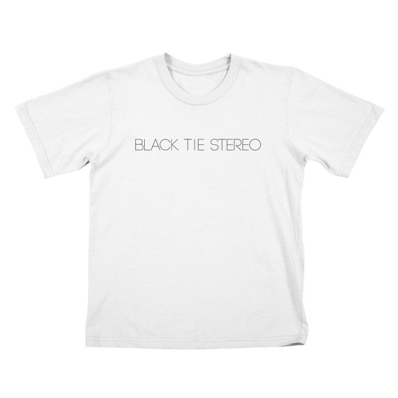 Basic Black Logo Kids T-Shirt by blacktiestereo's Artist Shop