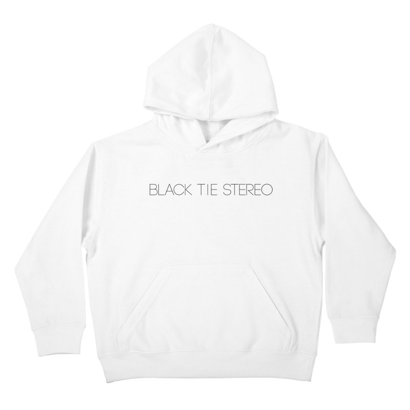 Basic Black Logo Kids Pullover Hoody by blacktiestereo's Artist Shop