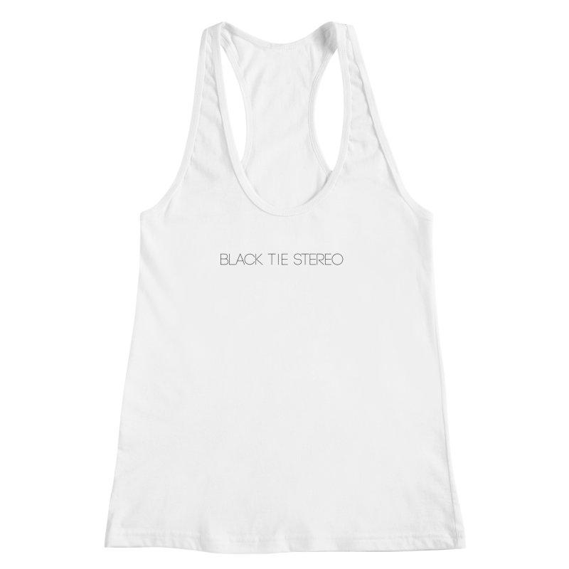 Basic Black Logo Women's Racerback Tank by blacktiestereo's Artist Shop