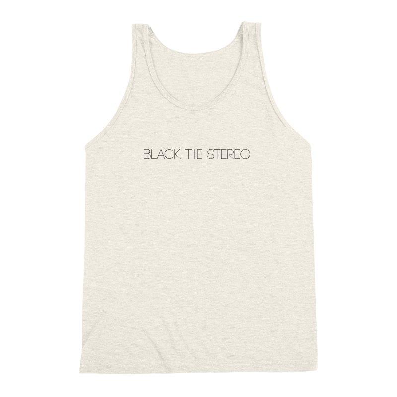 Basic Black Logo Men's Triblend Tank by blacktiestereo's Artist Shop