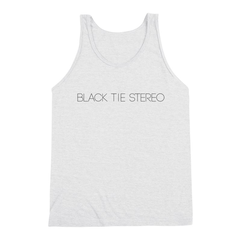 Basic Black Logo Men's Triblend Tank by blacktiestereo's Artist Shop