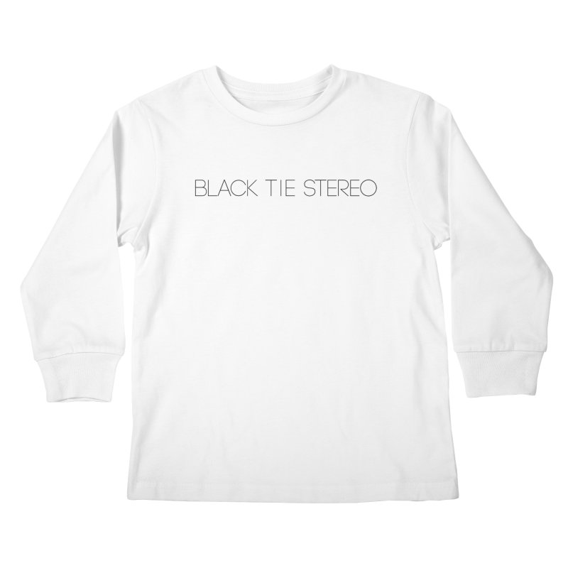 Basic Black Logo Kids Longsleeve T-Shirt by blacktiestereo's Artist Shop