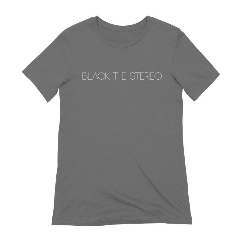Basic White Logo Women's Extra Soft T-Shirt by blacktiestereo's Artist Shop