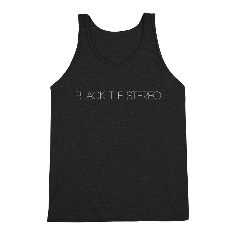 Basic White Logo Men's Triblend Tank by blacktiestereo's Artist Shop