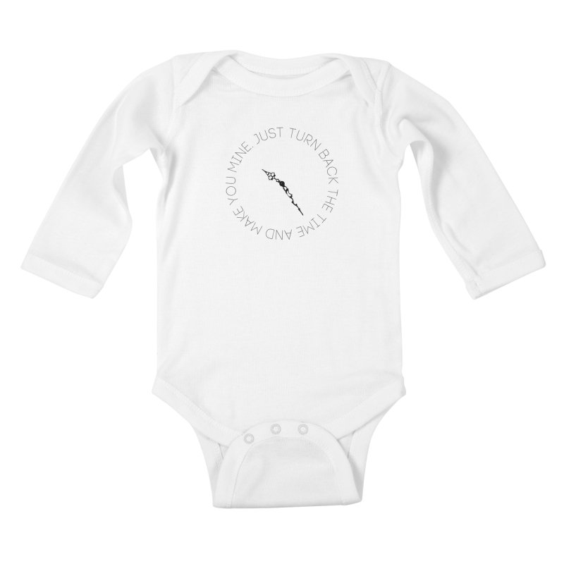 Just Turn Back The Time Kids Baby Longsleeve Bodysuit by blacktiestereo's Artist Shop