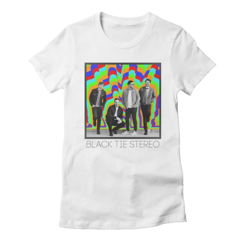 Color Burst Women's Fitted T-Shirt by blacktiestereo's Artist Shop