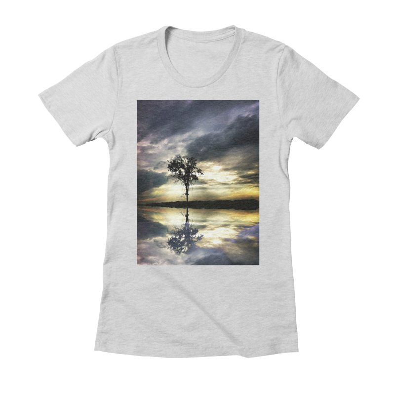 Beauty In Everything Women's Fitted T-Shirt by wearARTis blakereflected