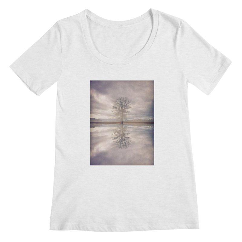 Standing In Water Women's Regular Scoop Neck by wearARTis blakereflected
