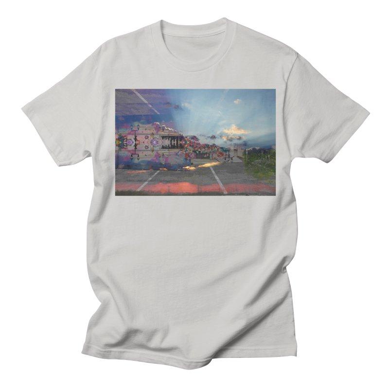 Empty Parking Lot Men's Regular T-Shirt by wearARTis blakereflected