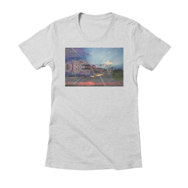 Empty Parking Lot Women's Fitted T-Shirt by wearARTis blakereflected