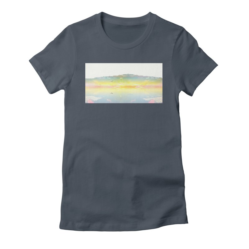 Dreaming While Awake Women's Fitted T-Shirt by wearARTis blakereflected