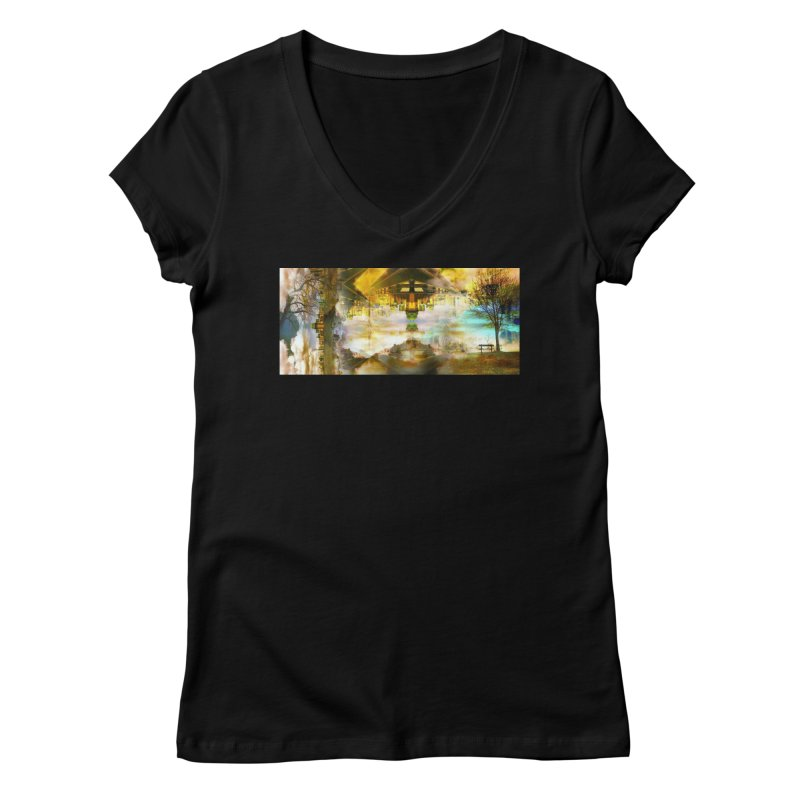 No One Even Watches Women's V-Neck by wearARTis blakereflected