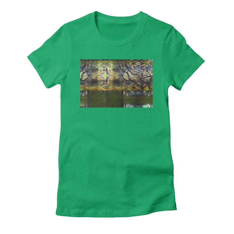Holding A Golden Sun Women's Fitted T-Shirt by wearARTis blakereflected
