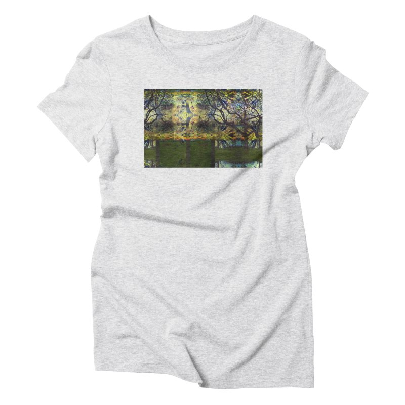 Holding A Golden Sun Women's Triblend T-Shirt by wearARTis blakereflected