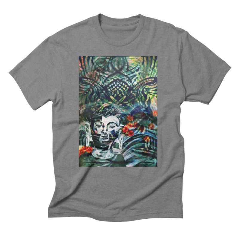 Attempt To Seek Stillness Men's Triblend T-Shirt by wearARTis blakereflected