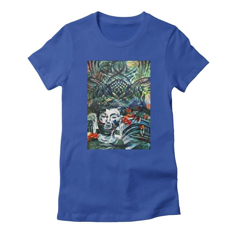 Attempt To Seek Stillness Women's T-Shirt by wearARTis blakereflected