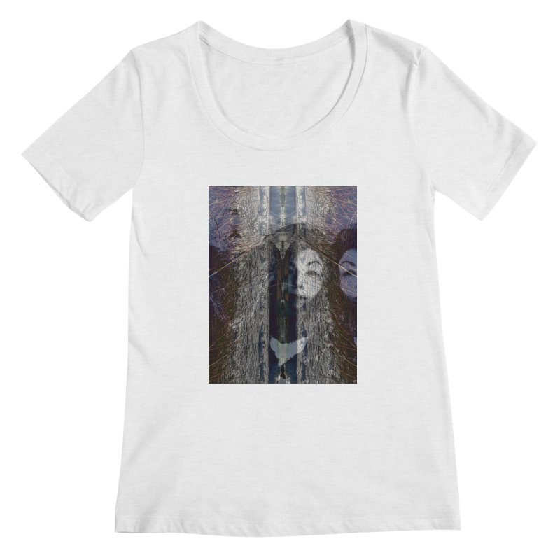 Imagining Women's Scoop Neck by wearARTis blakereflected