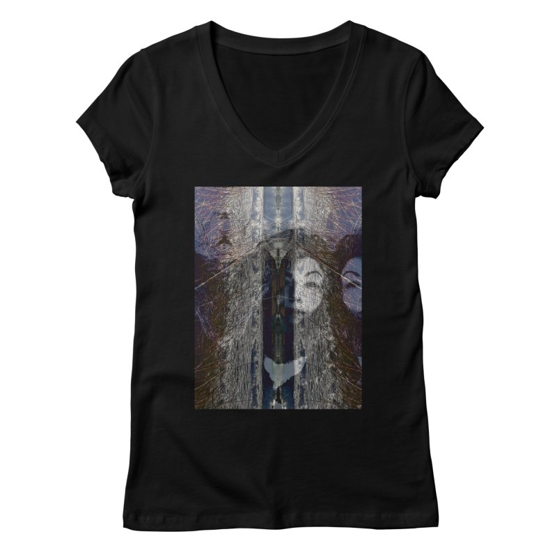 Imagining Women's V-Neck by wearARTis blakereflected