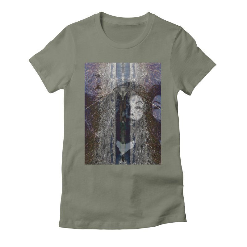 Imagining Women's Fitted T-Shirt by wearARTis blakereflected