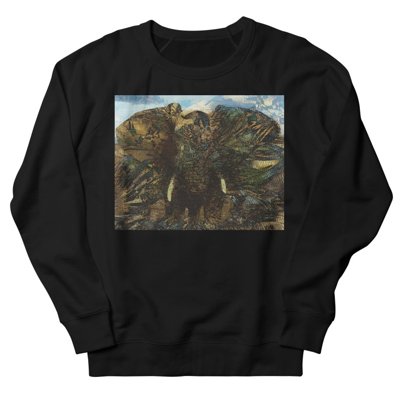 Elephant Men's French Terry Sweatshirt by wearARTis blakereflected