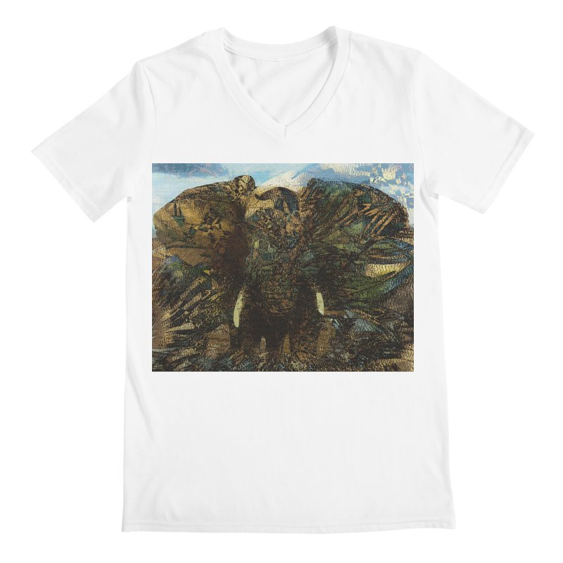Elephant Men's V-Neck by wearARTis blakereflected