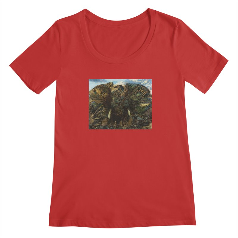 Elephant Women's Regular Scoop Neck by wearARTis blakereflected