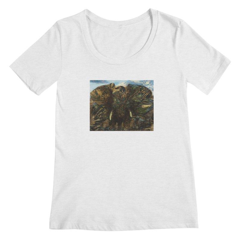 Elephant Women's Scoop Neck by wearARTis blakereflected