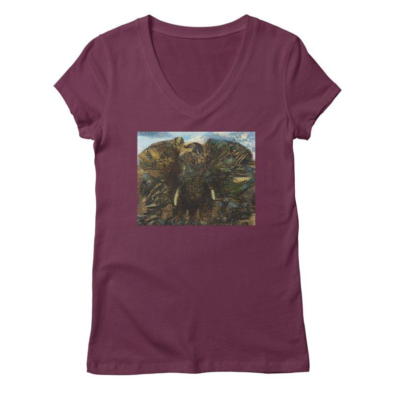 Elephant Women's Regular V-Neck by wearARTis blakereflected
