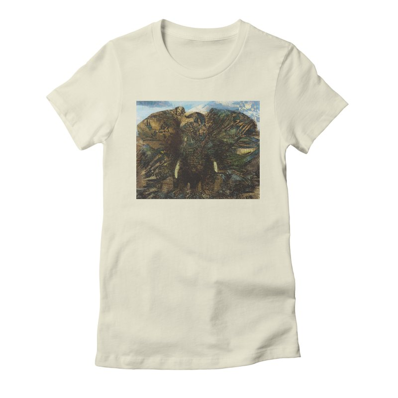 Elephant Women's Fitted T-Shirt by wearARTis blakereflected